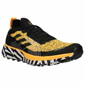 adidas Terrex Two Parley Trail  Mens Running Sneakers Shoes    - Black,Gold -