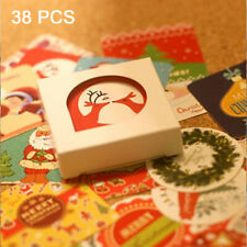 38pcs DIY Label Animal Cartoon Snowman Merry Xmas Santa Claus Christmas Stickers