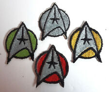 Star Trek:TMP Uniform Insignia Patch Set of 4- Lincoln Ent- FREE S&H (STPA-TMP4)