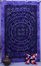 Elephant Mandala Indio Hippie Tapices étnicos de algodón Doble Colgante De Pared Lanzar
