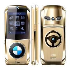 Car Shape Flip Small Cell Mobile Phone GSM 2G Dual SIM Cards Russian Keyboard