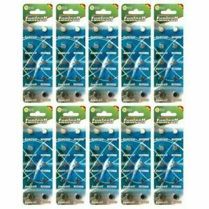 100 X Batteries AG3 LR41 SR41 192 392 alkaline button/coin Eunicell *UK
