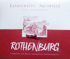 ROTHENBURG OB DER TAUBER, 5 AQUARELLDRUCKE VON PETER LINNENBRINK, MAßE BEACHTEN!