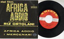 RIZ ORTOLANI  Africa addio OST raro disco 45 giri MADE in ITALY colonna SONORA