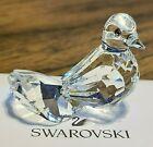 "Swarovski Crystal ""Feathered Friends"" Small Dove Figurine, w/ Pink Eyes, Box COA"
