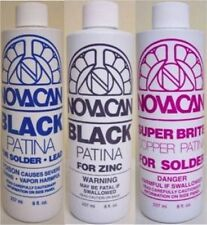 Novacan Patina Variety Pack - 3 Bottles Black/Copper Stained Glass