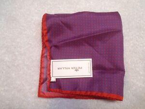 Peter Millar 100% Silk Diamond Pattern Pocket Square NWT $59.50 Made in Italy