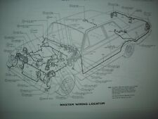 1964 Mercury full size wiring diagram all models and options including wagons