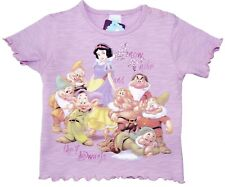 Neu! Disney Schneewittchen T-Shirt Shirt Tunika Baumwolle Glitzer lila 92