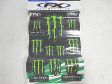 "Factory Effex Sponsor Sticker Set Monster Energy 2013 14"" x 20"" Sheet"