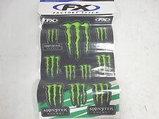 "Factory Effex Sponsor Sticker Set Monster Energy 2013 14"" x 20"" Sheet"
