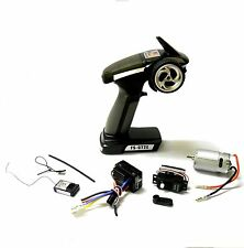 FS-GT2E 2.4ghz Radio Kit RC Transmitter Receiver Kit 2 Channel ESC and 3kg Servo