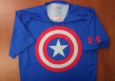 Under Armour Captain America Marvel Alter Ego Heat Gear Compression Shirt M New