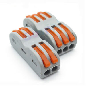 4 / 6 way Spring Lever Electric Terminal Block Fast Wire Cable RF LED Connector