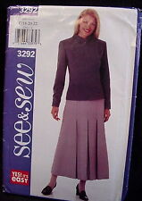 Butterick See & Sew Pattern 3292, Size C 18-22 Petite, Misses Jacket and Skirt