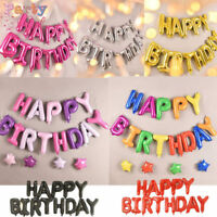 """HAPPY BIRTHDAY 16"""" SELF-INFLATING BALLOON BANNER BUNTING PARTY LARGE BALOONS UK"""