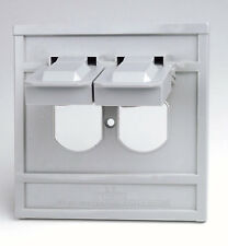 Leviton 4986-Gy 1-Gang Duplex Device Wallplate Cover, Oversize, Weather-Resis.