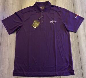 Callaway Golf Tour Chev Polo Shirt BESK0253 Petunia Size Small BNWT