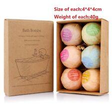 Pack of 6 Relaxing Epsom Salt Bath Bombs Gift Set Organic & Natural Ingredients