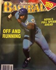 1989 Athlon Sports MLB Baseball Preview Magazine Bo Jackson KC Royals Cover