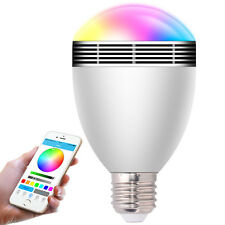 Mobile Phone Controlled Bluetooth 4.0 Speaker + Light Color Changing LED Bulb