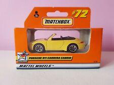 Matchbox 1-75 MB72 Porsche 911 Carrera Cabriolet, selling superfast lesney
