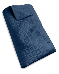 Ralph Lauren Greenwich King Coverlet Polo Navy Cotton Sateen Quilted New $400