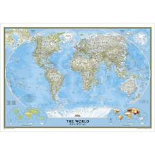 """New National Geographic Laminated Classic World Wall Map Standard 43"""" x 30"""""""