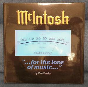 """Libro da collezione McIntosh """"...for the love of music..."""" di Ken Kessler, nuovo"""