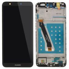 PANTALLA COMPLETA LCD + TACTIL + MARCO HUAWEI P SMART / ENJOY 7S NEGRO