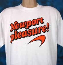 vintage 90s NEWPORT PLEASURE CIGARETTES T-Shirt LARGE tobacco marlboro soft thin