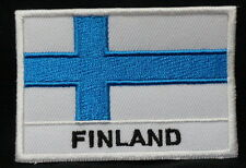 """FINLAND FLAG (Name) EMBLEM PATCH SEW ON EASY TO USE 2""""x3"""""""