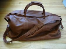 Very Fine Large Vintage Coach J7M - 503L Gloved Tan Leather Travel Duffle Bag