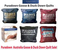 Puradown Australia White Goose Down & Duck Down Range Doona| Duvet| Quilt