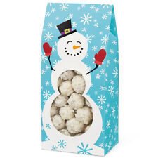 Wilton Christmas Pack 3 Snowman Design Tent Treat Boxes Baking Gift Box NEW