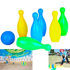 Dazzling Toys 6 Pins Plastic Bowling Set Kids Indoor Outdoor Sports Game Playset