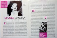MARIA CALLAS => COUPURE DE PRESSE 4 PAGES 2007 / French CLIPPING