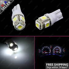 2x White Guage Cluster Instrument Speedometer T10 Wedge LED light Bulb 164