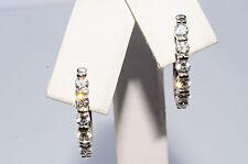 $5,400 .96Ct Natural Diamond Cluster Earrings 18K White Gold