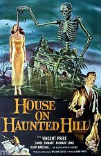 House on Haunted Hill Vincent Price Horror Movie Theater Poster / Fine Art Print
