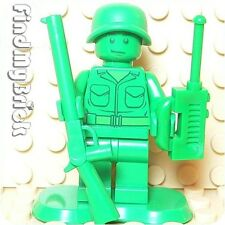 M733 Lego Toy Story Green Army Men Minifigure with Radio & Rifle Gun 7595 NEW