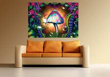 A0 MAGIC MUSHROOMS TRIPPY ART PSYCHEDELIC  LARGE IMAGE GIANT POSTER PRINT