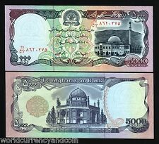 AFGHANISTAN 5000 5,000 AFGHANIS P62 1993 COIN MOSQUE UNC MONEY BILL BANK NOTE