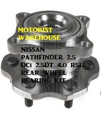 Para Nissan Pathfinder 2,5 2,5 dt 4.0 R51 Rueda Trasera Kit de rodamientos Hub Asamblea Abs