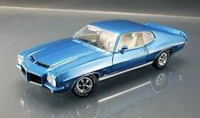 1972 PONTIAC LeMANS GTO SERIAL # 0046  LUCERNE BLUE WHITE INT 1:18 ACME CAR GMP