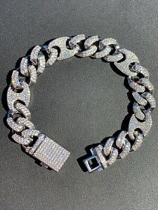 Mens Cuban Gucci Link Real Stainless Steel ICY Hip Hop Bracelet - ICY Diamonds