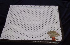 Carters Just One You Girl Monkey Brown Polka Dot Leopard Baby Blanket Cotton