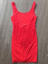 GRIPP bodycon Dress with Fringe Backless party club RED sz S BNWT