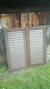 1 Paar Fensterladen - Holz - gebraucht - Höhe 125 cm - Breite 60 cm