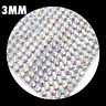 Iron On Diamante Transfers Strips Hot Fix Rhinestone Mesh Silver AB Crystal Trim